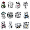 WYBEADS Unique Silver Beads Animal Theme Symbol Charm European Bead Fit Pandora Style Bracelet Bangle Original Jewelry Making