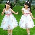 Rendas bebê vestido de verão bebés meninas vestidos de Aniversário Festa de Casamento branco vestido de princesa infantil vestido floral TUTU da roupa do bebê