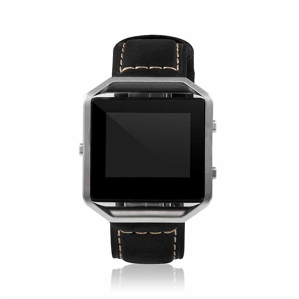 2018 חדש אופנה עור שעון להקת רצועת חליפת עבור Fitbit Blaze שעון אבזם אבזם עם כיסוי החלפה