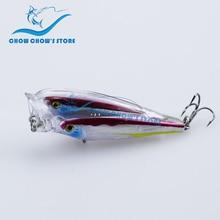 купить New Arrival!! Brand CC Popper Fishing Lure Swimbait Wobbler Bass Lure camarao artificial Pesca leurre 7.5cm 12.5g по цене 639.59 рублей