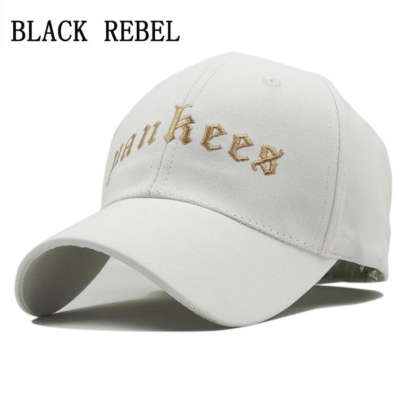 Black Rebel Washed Denim Women Baseball Cap Brand Bone Hats For Men Hip hop Gorras Fashion embroidery Dad hat Vintage Hat Caps