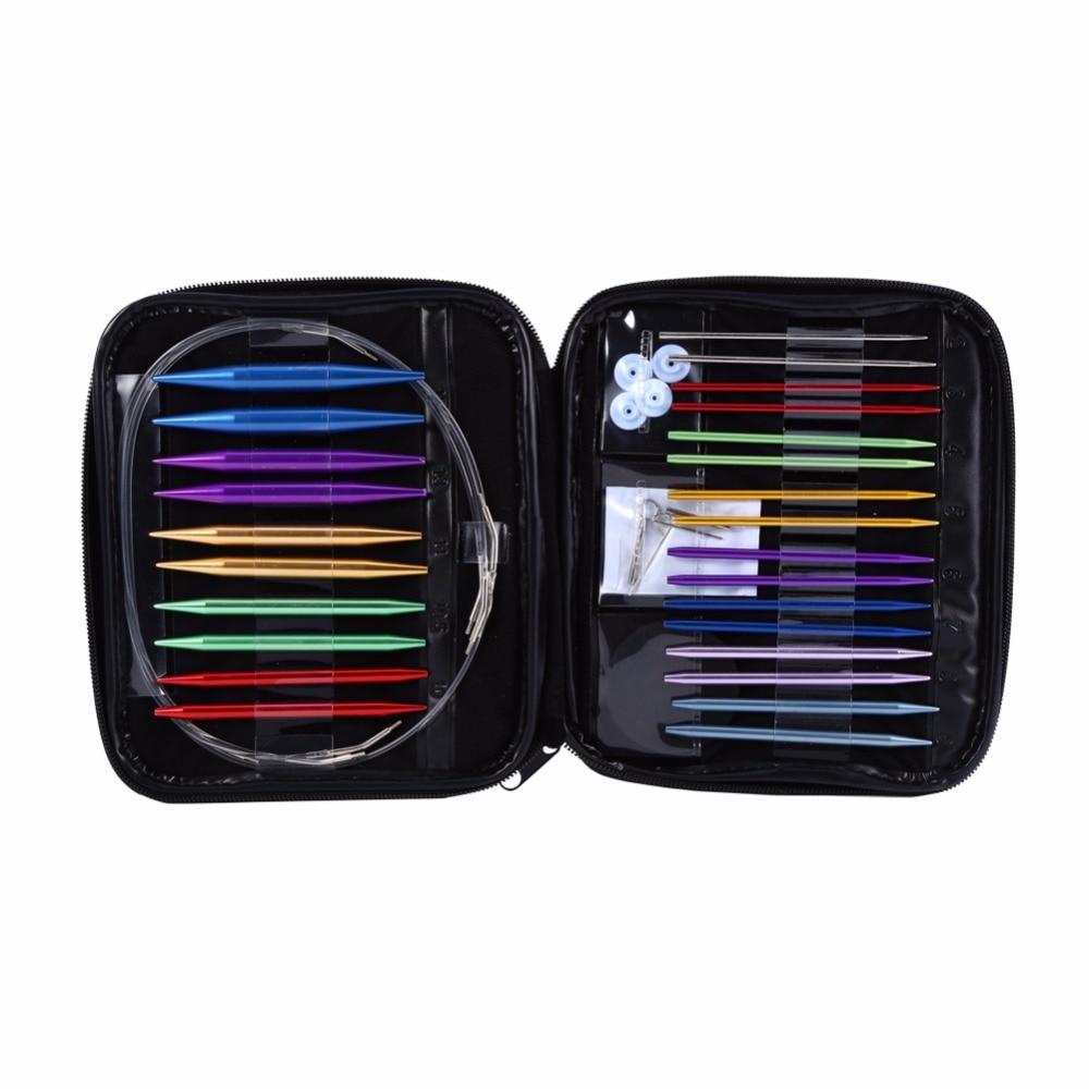 Knitting Needle Sets Circular Interchangeable Reviews : Set interchangeable sizes circular knitting needle