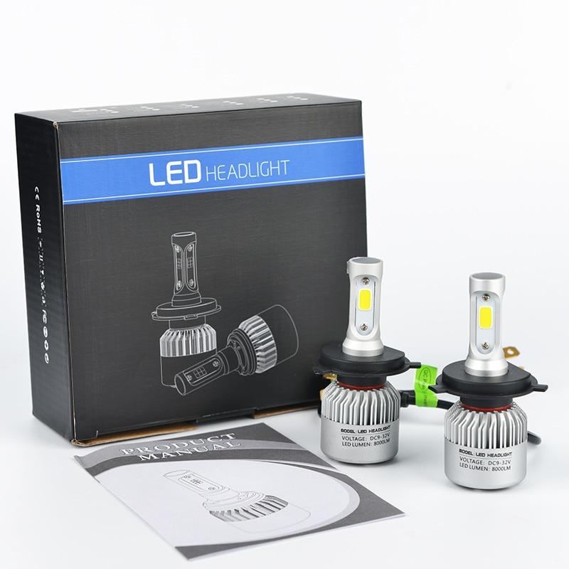 LDDCZENGHUITEC H4//H7//H11//H13//9005//9006 Led-autoscheinwerferlampe Hallo-Lo Strahl COB Led-scheinwerfer 72 Watt 8000LM Auto Led-scheinwerfer 12 v