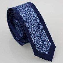 YIBEI coahella галстуки темно-синие с синими цветами/пледы шейный платок из микрофибры Тонкий обтягивающий галстук повседневный бизнес свадебное платье ручной работы