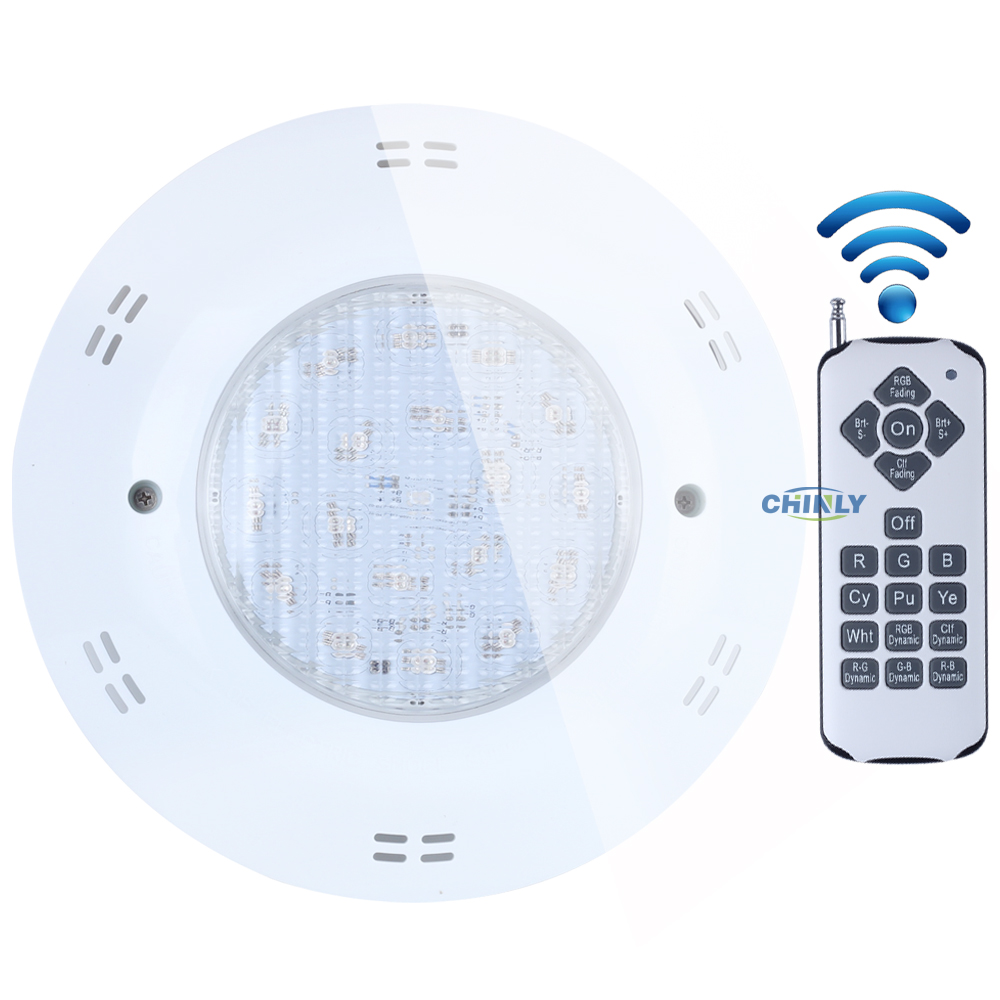 AC12V 18W 25W RGB Wall mounted Swimming LED Pool Lights underwater lights IP68 Waterproof Energy Saving