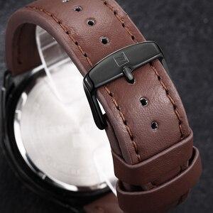 Image 5 - NAVIFORCE relojes deportivos para hombre, de cuarzo, resistente al agua, Cuero militar del ejército