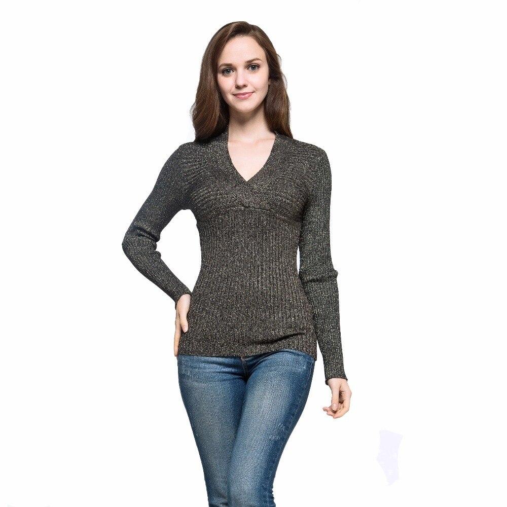 ჱManera caliente de primavera sexy mujeres v-cuello suéter de manga ...