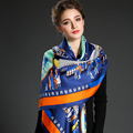140*140cm 100% pure Silk Twill Square women Scarf lady's large size  scarves&Shawl for Autumn&winter Wraps high quality