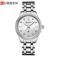 CURREN Women Watch Luxury Brand Fashion Casual Ladies Quartz Simple Clock Gift Crystal Design Relogio Feminino Reloj Mujer