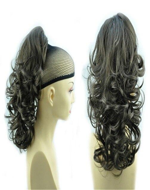 """14 """" и 110 г волос коготь конский хвост расширение длинные и объемные завитые волнистые - сопротивление div. Цвета SB77 коричневый H86 / 8"""