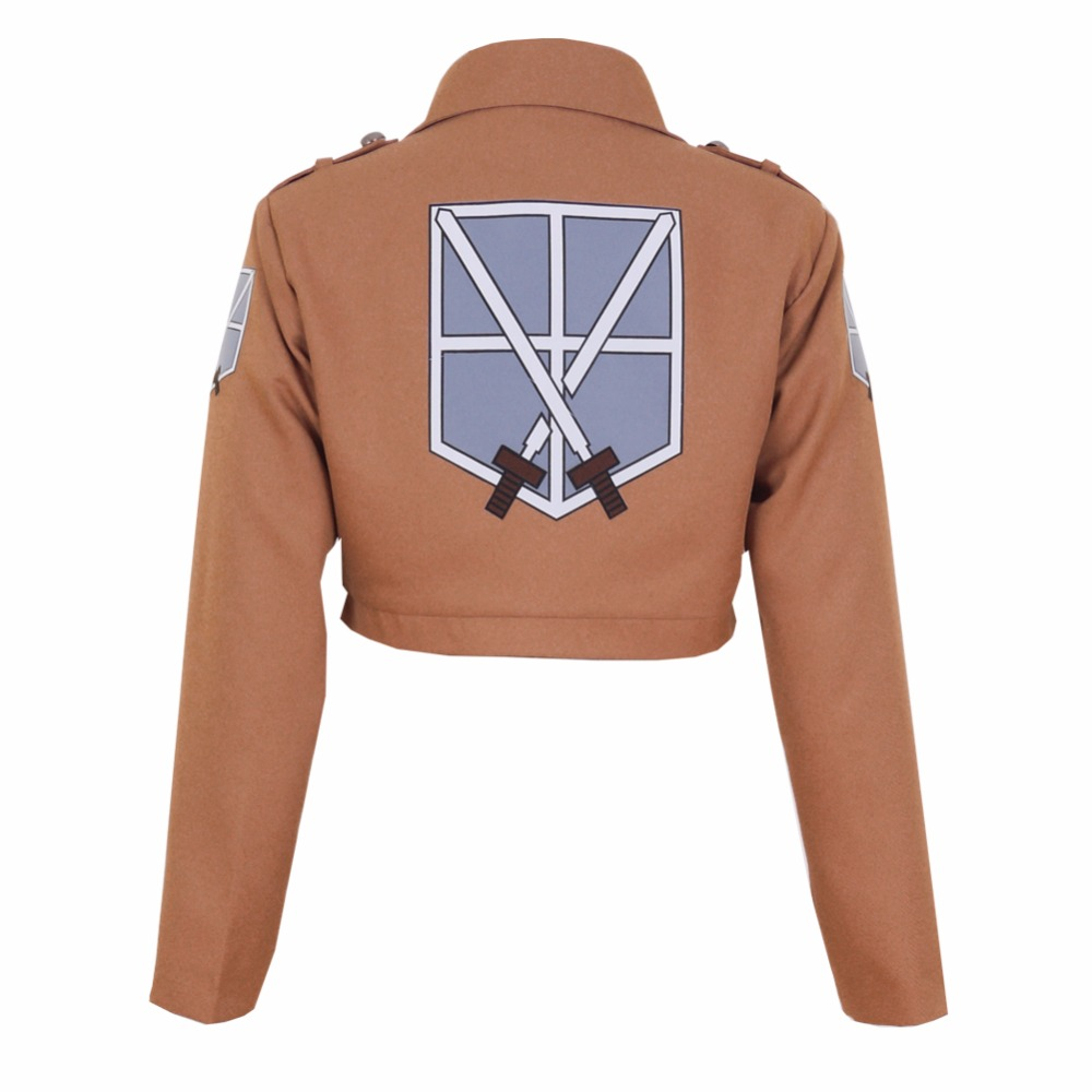 Halloween Attack on Titan Shingeki no Kyojin Train Corps Jacket Eren Jaeger Cosplay Costume Game Anime Japanese