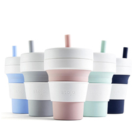 STOJO CUP Folding Silicone Portable Silicone coffee cup multi function folding silica cup Office travel Essential