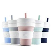 STOJO tasse à café pliable en Silicone, Portable, avec tasse à café, pliable multifonction, pour bureau et voyage