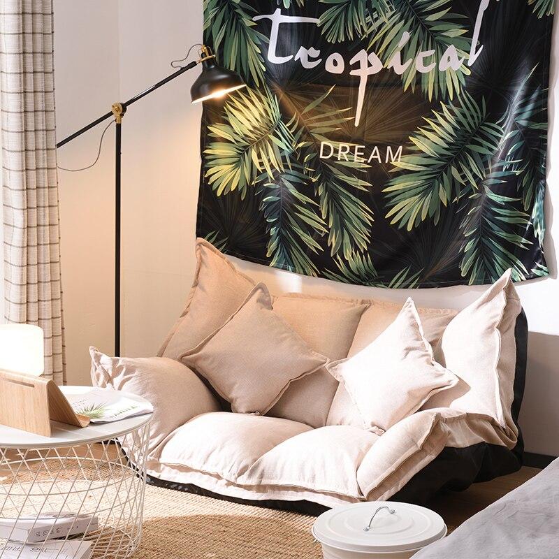 Sofa podłogowa łóżko salon regulowany składany nowoczesny kanapa wypoczynkowa łóżko do gier wideo Sofa z dwie poduszki do sypialni pokój dzienny