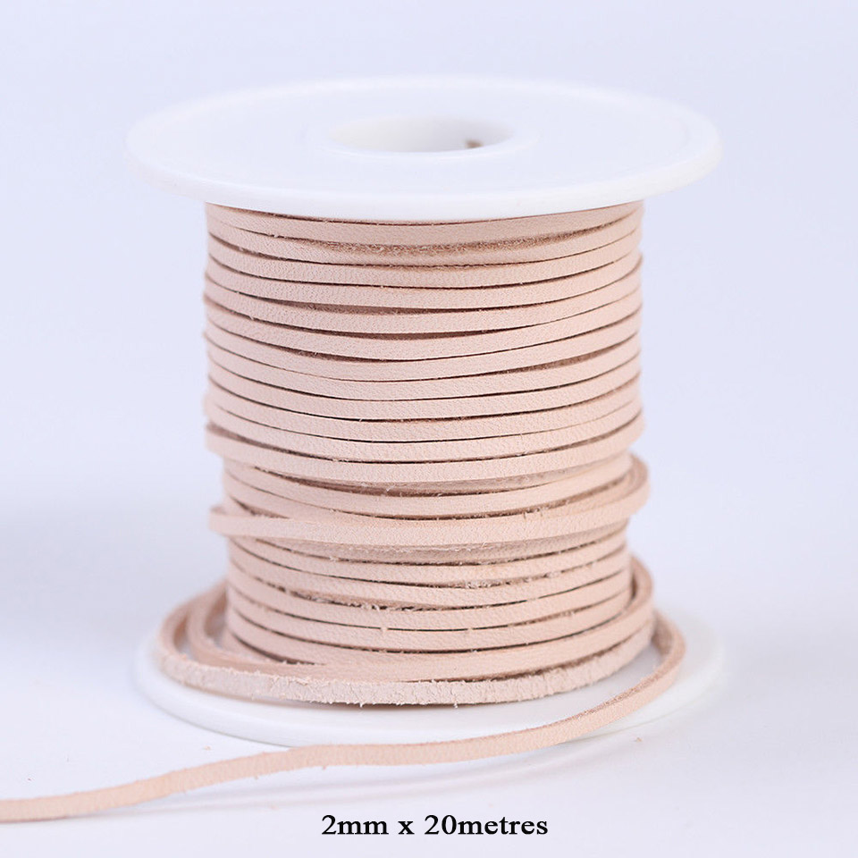 Natural Leather// 3mm Square Leather Thonging Cord Lace Jewellery Leather String