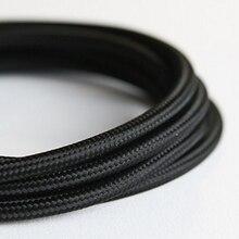 10 metre vintage tekstil elektrik teli kablo pamuk retro edison tarzı kumaş lamba kablosu