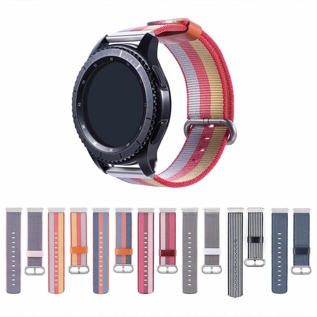 נוח ונושם רצועת שנבחר ניילון רצועת השעון רצועת עבור Samsung הילוך S3/Gear2 R380 Huawei שעון GT/honor קסם שעון