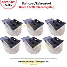 Litewinsune 6 шт FedEx Бесплатная доставка дождевик Непромокаемая ткань для Луча 5R R7 луч сценическое освещение