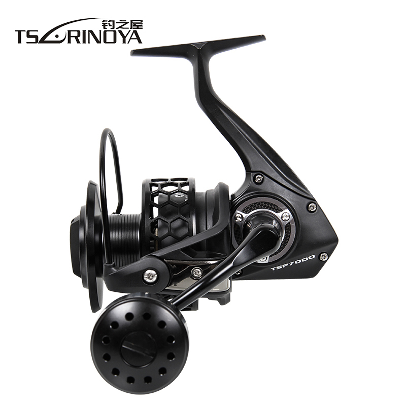 TSURINOYA TSP7000 Distant Wheel 8BB/ 4.9:1 Full Metal Jig Ocean Boat Trolling Reel Carretes Pesca Spinning Fishing Reel Molinete tsurinoya spinning fishing reel 9bb 5 2 1 full metal 2000 5000size ocean boat lure reels carretes pesca molinete fishing wheel
