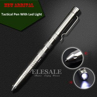 New Stainless Steel Tactical Pen With Led Light Self Defense Weapon Emergency Kit Portable Glass Breaker