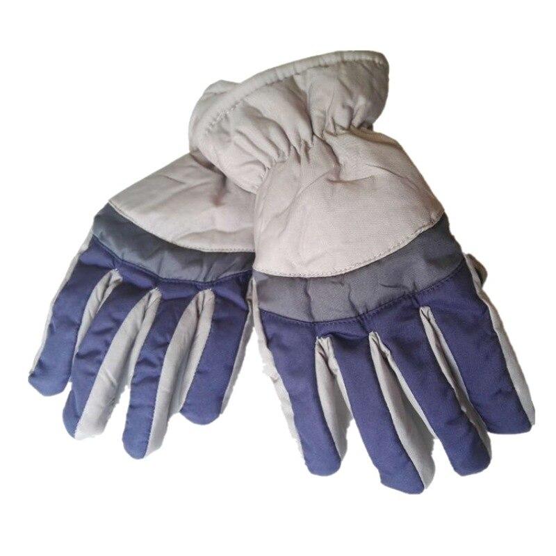 Sunny Men Winter Snow Gloves Women Windproof Waterproof Warm Glove Full Finger Leather Palm Mittens Fashion Patchwork Gloves