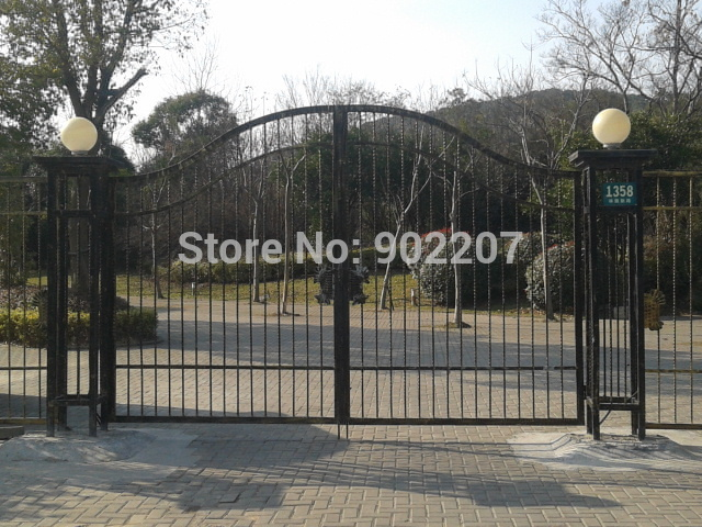 ALL WROUGHT IRON DRIVEWAY GATE NOW 10% OFF SALE NOT CASTED