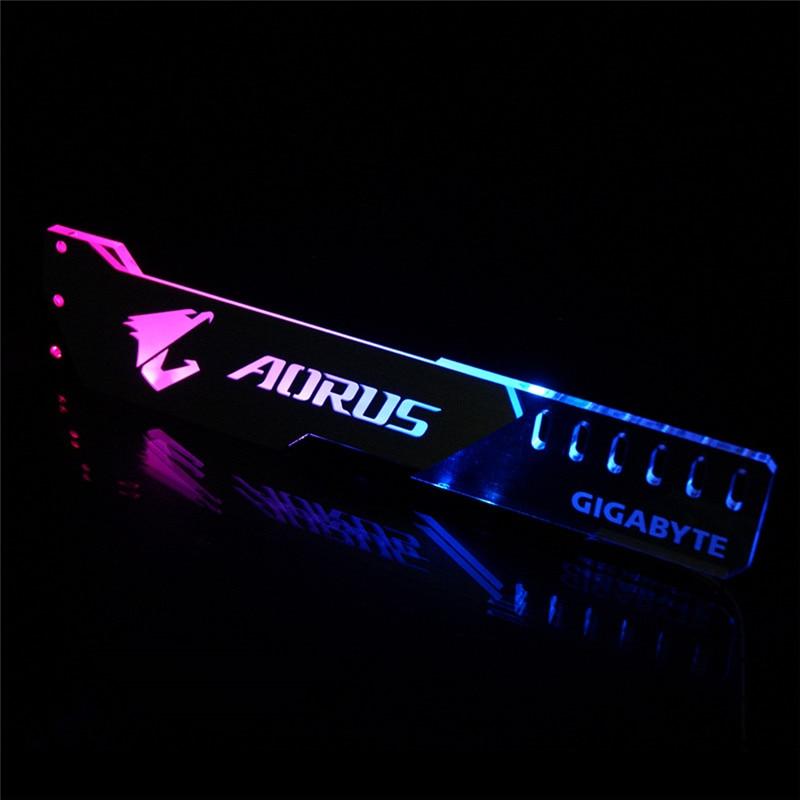Graphics Card Bracket VGA Support Frame GPU Holder ROG 12V 4PIN RGB/5V 3PIN ARGB ASUS AURA SYNC Aluminum+Acrylic NEW Arrival