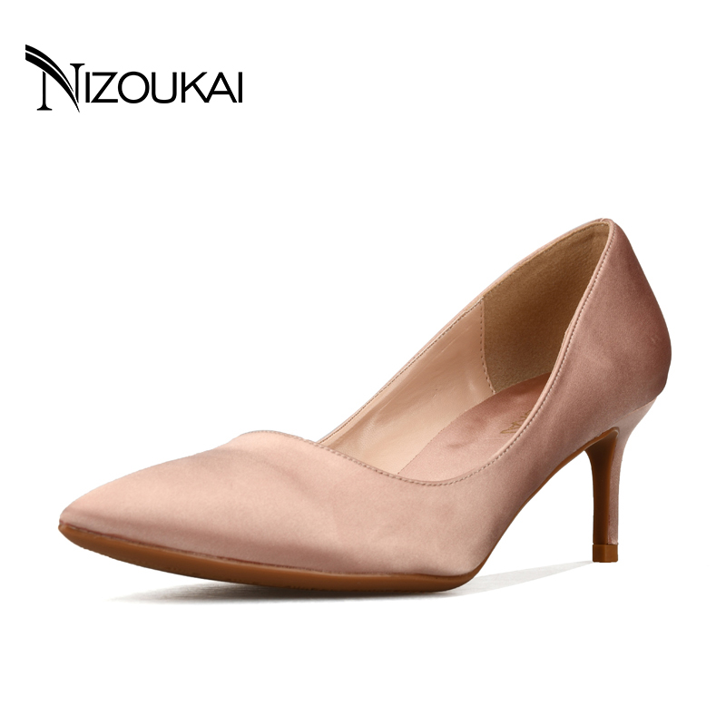 Womens Shoes Big Size 2018 New Fashion high heels women pumps thin heel classic Black Red Nude sexy prom wedding shoes d01-c6 2016 woman shoes high heels platform ladies bow heel womens pumps 4 colors thin heels sexy wedding shoes for women big size