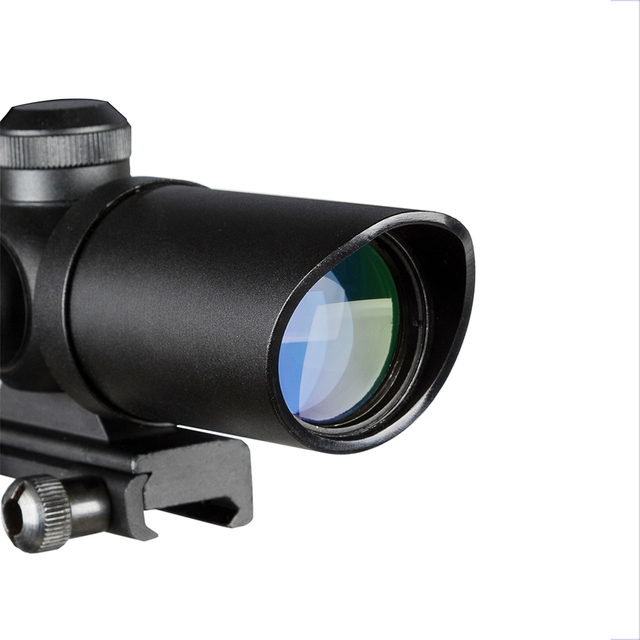 1.5-5X32 Short Scope Hunting Riflescope Red Dot Green Illuminated Optical Sight Rail 20mm Crossbows For Hunter Airsoft Weapons 4