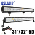 "Oslamp 5D 32"" 300w Curved / 31"" 330W Spot Flood Combo Beam 12V LED Work Light Bar Offroad 4x4 ATV Truck Trailer Camper Tractor"