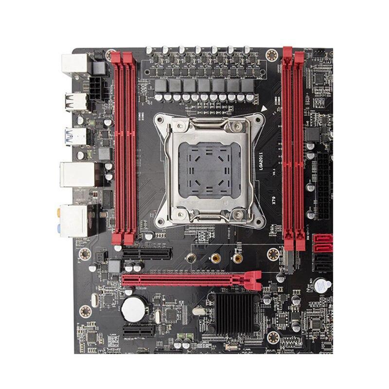 X79 placa-mãe lga2011 e5 2680 v2 usb3.0 sata3 pci-e nvme m.2 ssd xeon e5 processador 64 grama com 9 portas usb atx mainboard