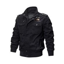 Novel ideas Men army jacket men zipper stand collar military chaqueta Flight Coat Embroidery Multifunctional