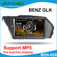 7″ Car DVD GPS Player for BENZ GLK with MP5 Function High Quality Free Shipping Free Card with Map