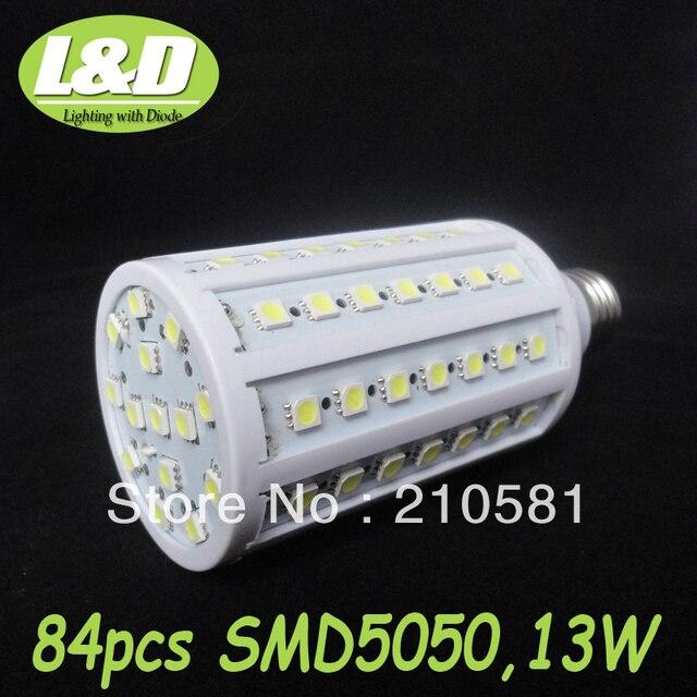 Free Shipping,Wholesale,13W,E27 LED corn bulb light,220V AC,84pcs SMD5050 LEDs,high quqlity,warranty 12 Months