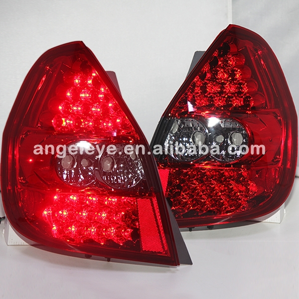 For HONDA Fit Jazz LED Tail Lamp Red Color 2002-2008 year LF накладки на пороги honda jazz i fl 2002 2008