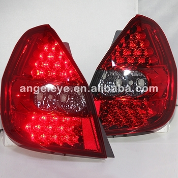 For HONDA Fit Jazz LED Tail Lamp Red Color 2002-2008 year LF