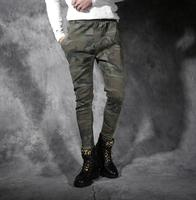 Male camouflage pants personalized feet pant male slim skinny pants mens trousers pantalones hombre cargo korean 2019 new casual