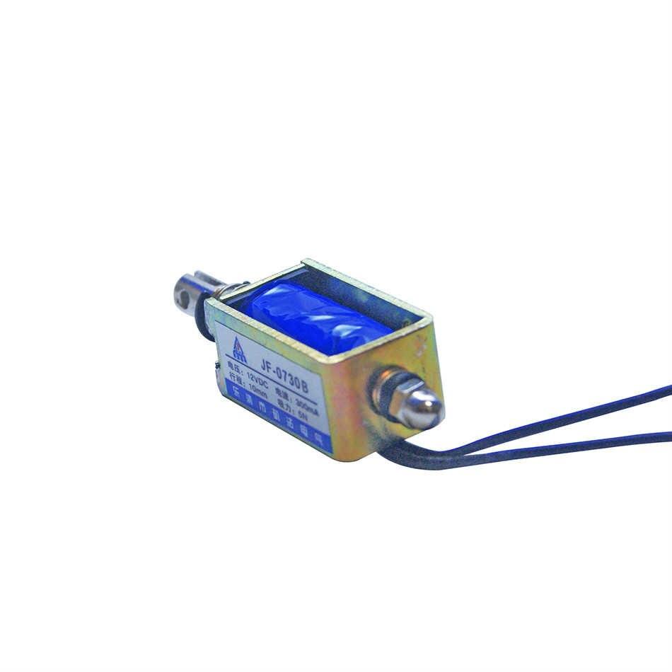 DC12V Push-Pull Open Frame Solenoid Actuator Electromagnet Holding Lift 5N 10MM