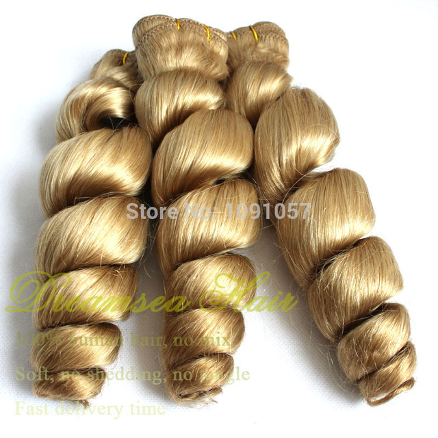 Wholesale Brazilian Loose Curl 22 Blonde Curly Hair Extensions One
