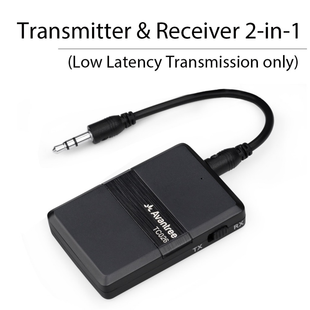 Avantree Bluetooth Transmitter 2 in 1 APTX Low Latency Bluetooth V4 1 Audio Transmitter and Receiver