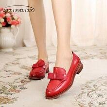 Yinzo kadın Flats Oxford ayakkabı kadın hakiki deri Sneakers bayan Brogues Vintage rahat ayakkabılar ayakkabı kadın ayakkabısı 2020