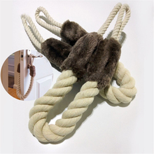 Home Door Stop Door Decorative Rope Doorstop Rope Fits to Doors Window Slamming Shut Wedge Door Handles Stopper
