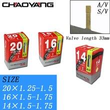 14/16/20 Inches Folding Bikes Tyre Bicycle Inner Butyl rubber Tube Tire For 14/16*1.5-1.75 20*1.25-1.5 AV SV  Schrader Valve
