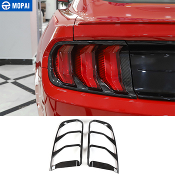 цены MOPAI Carbon Fiber for Mustang 2019 Car Rear Taillight Decoration Tail Light Lamp Cover Accessories for Ford Mustang 2018+