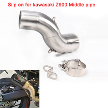 Silp on for kawasaki Z900 2017 2018 Motorcycle Stainless Steel Middle Connecting Pipe Silencer Exhaust System