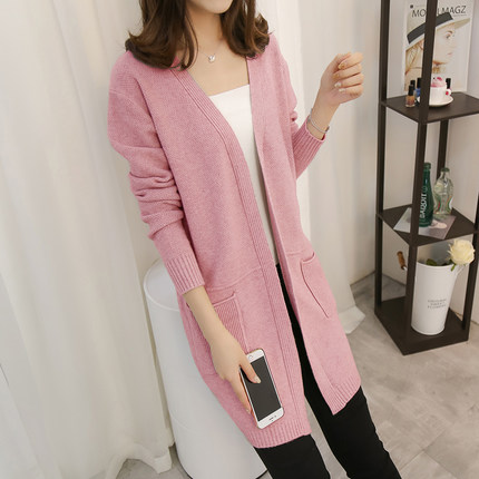 201New Women Winter Long Cardigan Sweaters Female Loose Oversized Jackets Knitted Jumper Autumn Sweater Cardigans For Girls 1