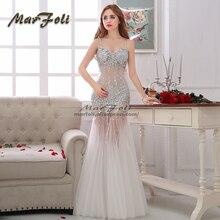 MarFoli, роскошное Кристальное платье в пол, полностью сексуальное платье, вечернее платье, коктейльное платье, тюль, иллюзия, платье на выпускной, индивидуальное платье