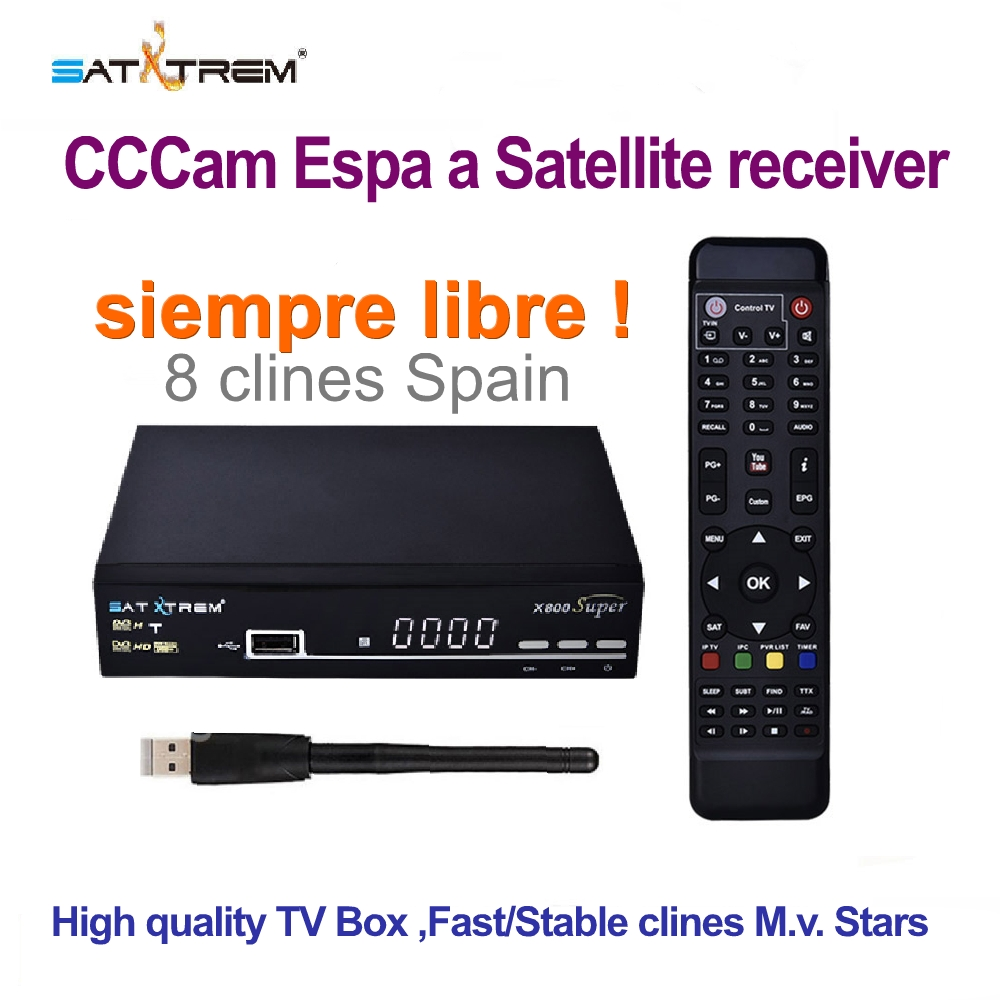 Satellite TV Receiver fta digital receptor satelite cccam espa a spain lineas clines server hd free