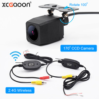XCGaoon Q1 CCD Car Rear View Camera 170 Degree Wide Angle Waterproof with 2.4G Wireless Transmitter Receiver Module adapter