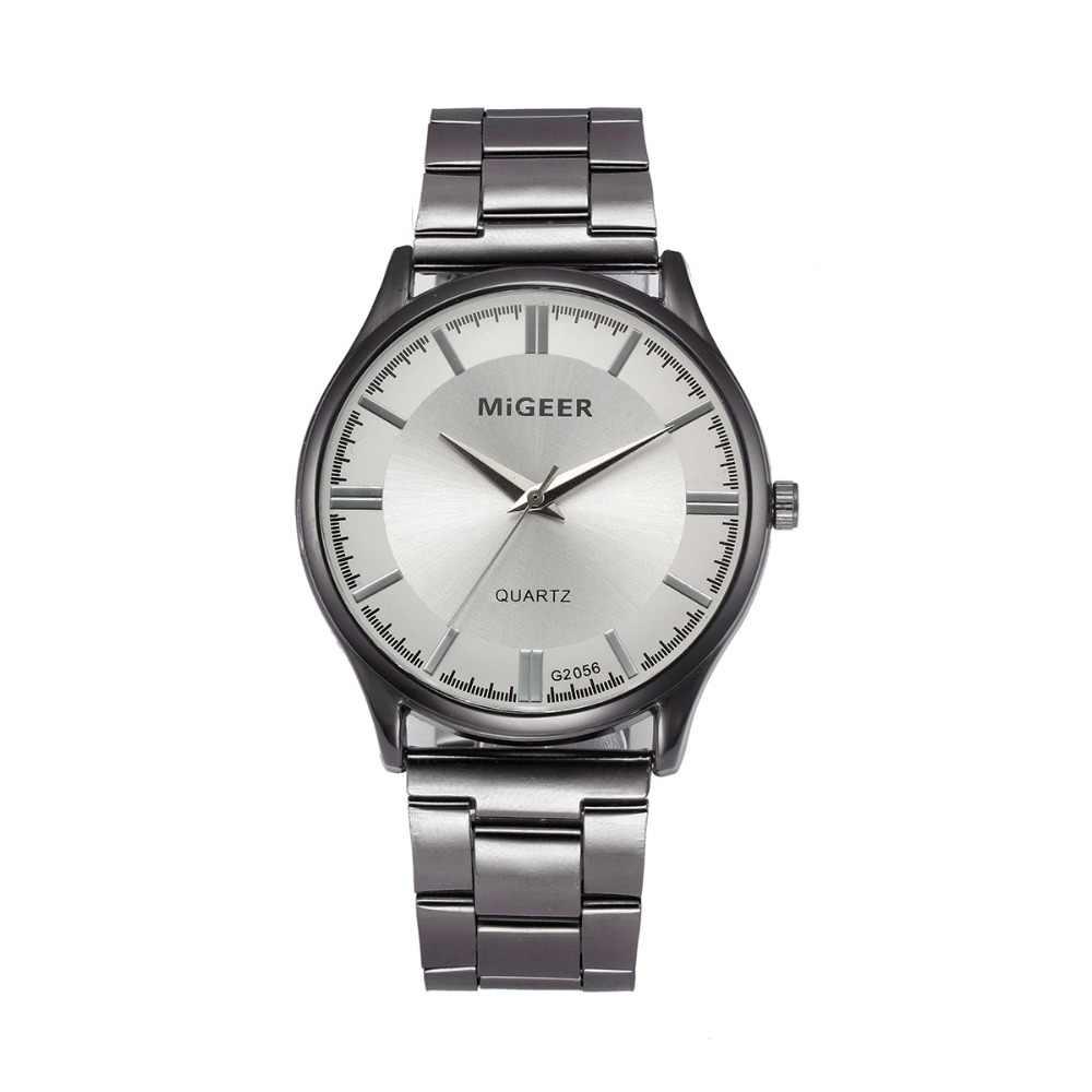 แฟชั่นผู้ชายคริสตัลสแตนเลสสตีลนาฬิกาข้อมือควอตซ์นาฬิกาข้อมือนาฬิกาผู้ชายนาฬิกาควอตซ์ผู้ชายนาฬิกา 2019 Luxury